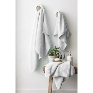 FINLANDEK Set de 2 Draps de douche 70x140 cm + 1 serviette de toilette 50x100 cm KYLPY blanc