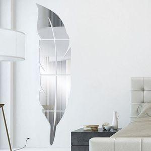 OBJET DÉCORATION MURALE amovible Miroir Autocollants muraux Autocollant dé