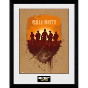 AFFICHE - POSTER Photographie encadrée Call of Duty WWII Bouclier 3