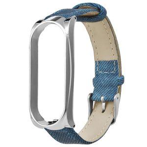 MONTRE CONNECTÉE Bleu Denim Bracelet Métal Case Bracelet Montre-bra