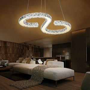 LUSTRE ET SUSPENSION MCTECH 32W LED Lustre Moderne en Cristal design La