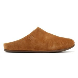CHAUSSON - PANTOUFLE FitFlop Chrissie Womens Shearling Tan Slippers-UK