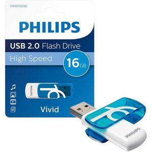 CLÉ USB PHILIPS - Clé USB - Vivid - 16 Go - USB 2.0