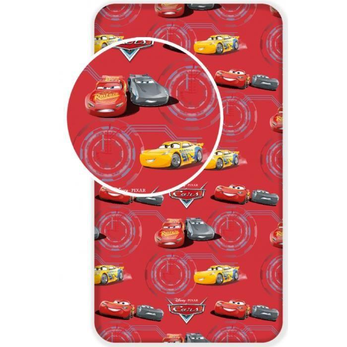 CARS DISNEY   Drap housse 90 x 200 cm pour lit 1 personne 100