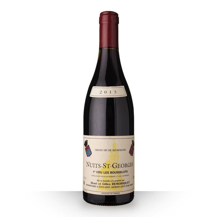 VIN ROUGE Domaine Remoriquet 2013 Rouge 75cl AOC Nuits-Saint