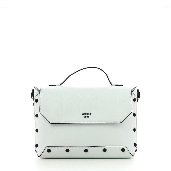 Guess - Kaia Bandoulière with studs - HWVB6859180-WHITE-UN - WHITE