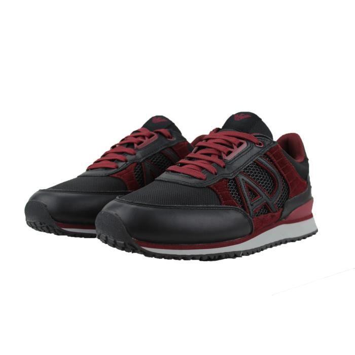 3ba38898d09 Armani Jeans Chaussure Noir Homme 6A417 Noir Noir - Achat   Vente ...