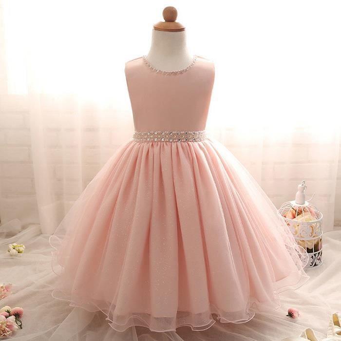 New summer Rose Enfants Robes Pour Les Filles Enfants Formelle Usure Princesse Robe Pour Fête Danniversaire Robe