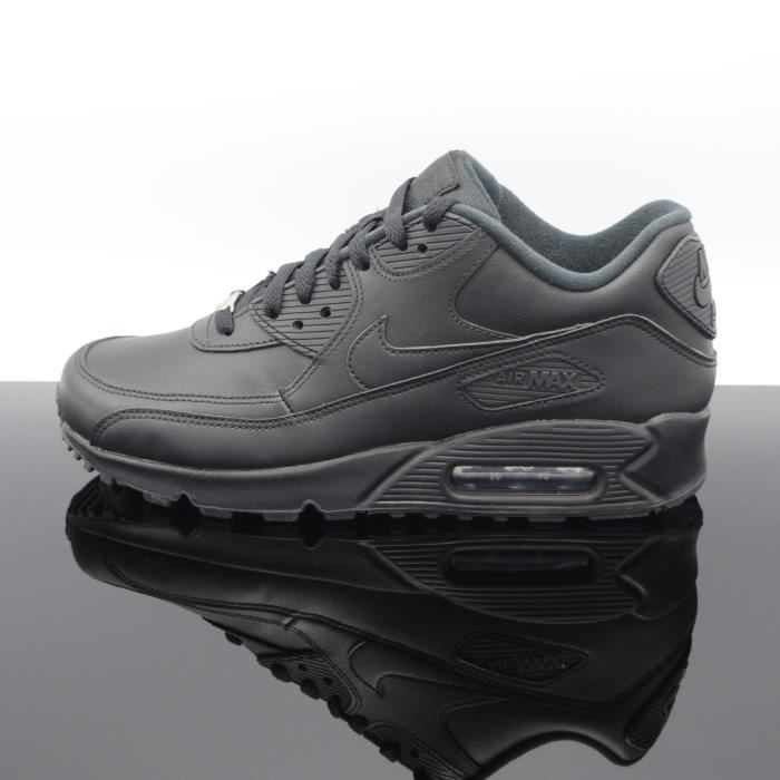 cheap for discount 9c7ad 330df BASKET NIKE AIR MAX 90 LEATHER 302519-001. NIKE-BASKET-NOIR-HOMME