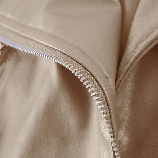 Cuir Veste Outwear En Pardessus zf758 Yunsoel®hiver Parka Court Chaud Femmes Faux Manteau Col x4nggO80qw