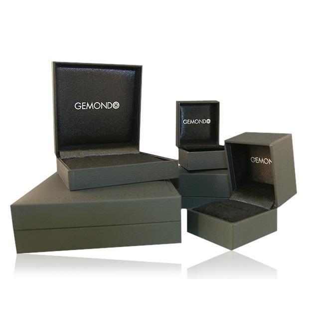 Gemondo Boucles doreilles clou Or jaune 9 ct Grenat Rouge & Diamant