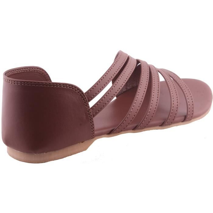 Xeefv Taille Brown slippers Sandal 37 Ladies Slippers flats brown Women's SqwgPxnvU