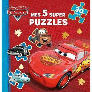 Livre 3-6 ANS Cars, mes 5 supers puzzles