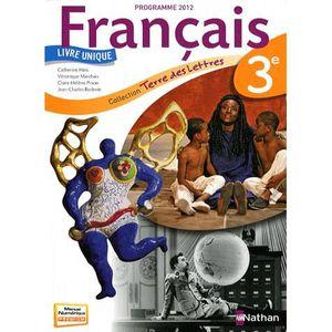 Francais 3e Terre Des Lettres Achat Vente Livre