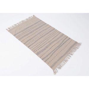 TAPIS Tapis de salon xl à franges taupe panama 160x230 c