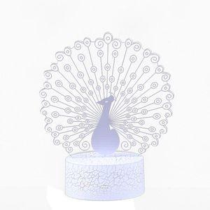 LAMPE A POSER LED 3D lumineux lumière illusion bureau USB lampe