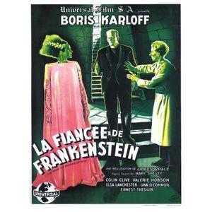 AFFICHE - POSTER FIANCEE DE FRANKENSTEIN (LA) reproduction poster d
