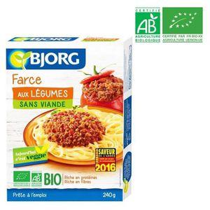 PLAT LÉGUMES - FÉCULENT BJORG Farce aux légumes bio - 240 g