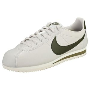 new style b48db 283f4 BASKET Nike Classic Cortez Homme Baskets Gris Vert