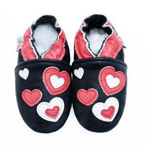 2fcc68393e918 CHAUSSON - PANTOUFLE Chaussures Bébé en Cuir Souple - Chaussons Bébé ki ...