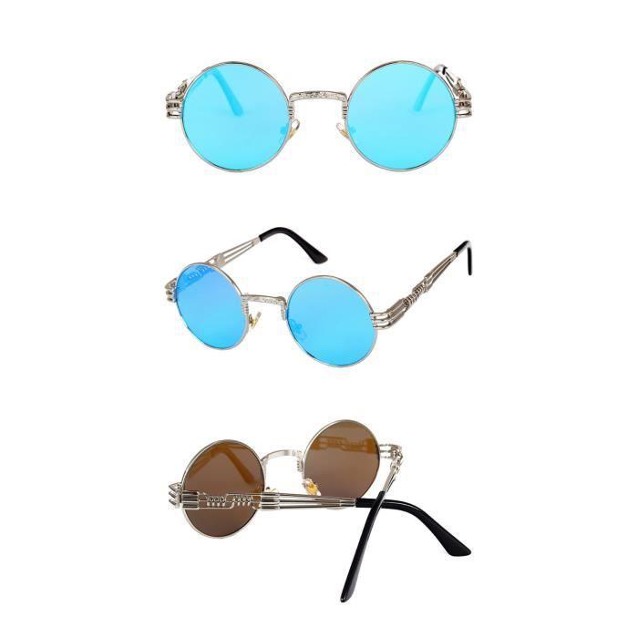 Deuxsuns®Hommes Femmes Ronde Carré Vintage Miroir Lunettes De Soleil Lunettes Sports de Plein Air Glasse@zf950