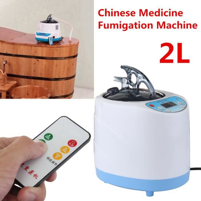 220V 900W 2L Bubble Pied Baril Sauna Médicament Fumigation Machine Vapeur Moteur