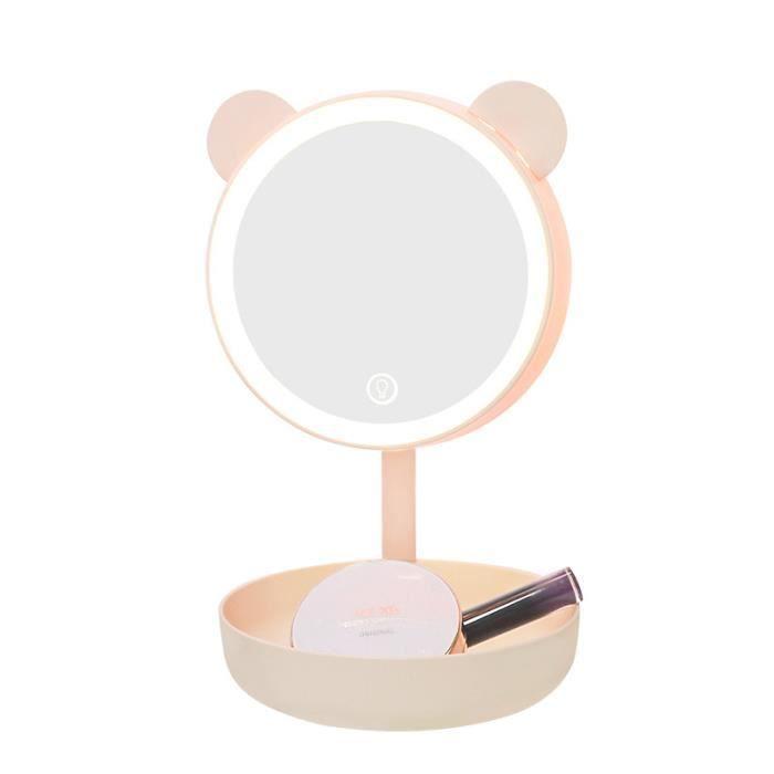 Miroir De Maquillage Avec La Lampe Led De Vanite D Oreille D Ours