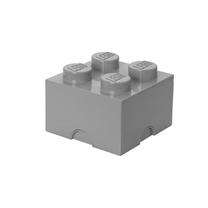 boite de rangement lego - 8 plots - gris - achat / vente boite de