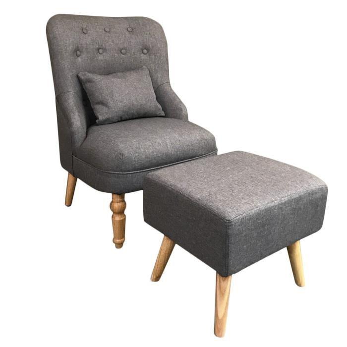 fauteuil fauteuil scandinave pieds bois massif style vintag - Fauteuil Scandinave Vintage