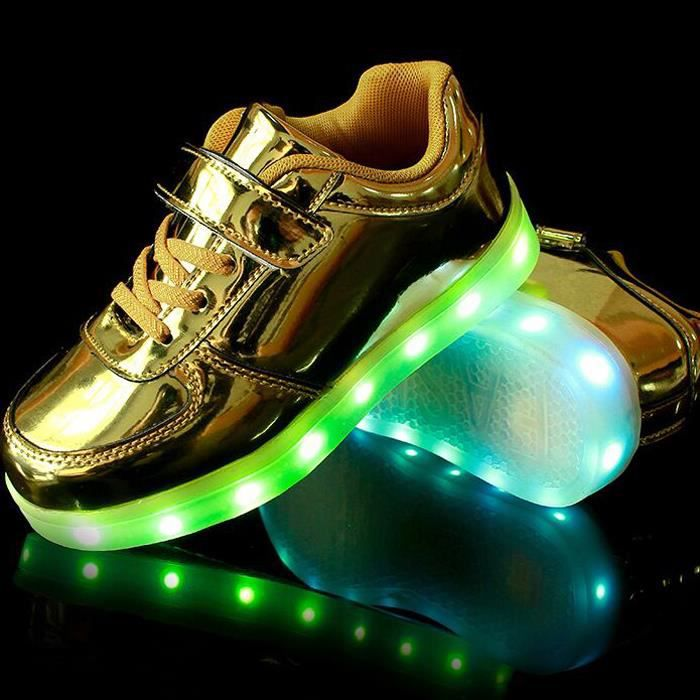 Chaussures baskets tennis à led 7 couleurs rech... UpSxvWz
