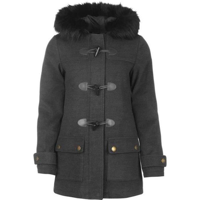 2017 Gris Kangol Fourrure Coat Nouveau Collection Femme A Duffle S0TznRP