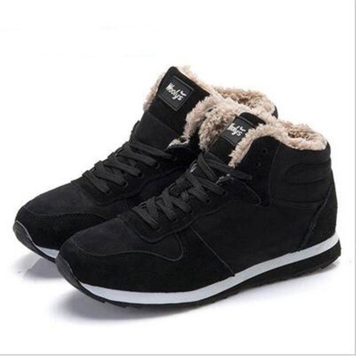 2016 bottes de neige hiver keep Warm bottes peluche cheville boot bottes de neige extérieure, femmes Snow travail chaussures hommes