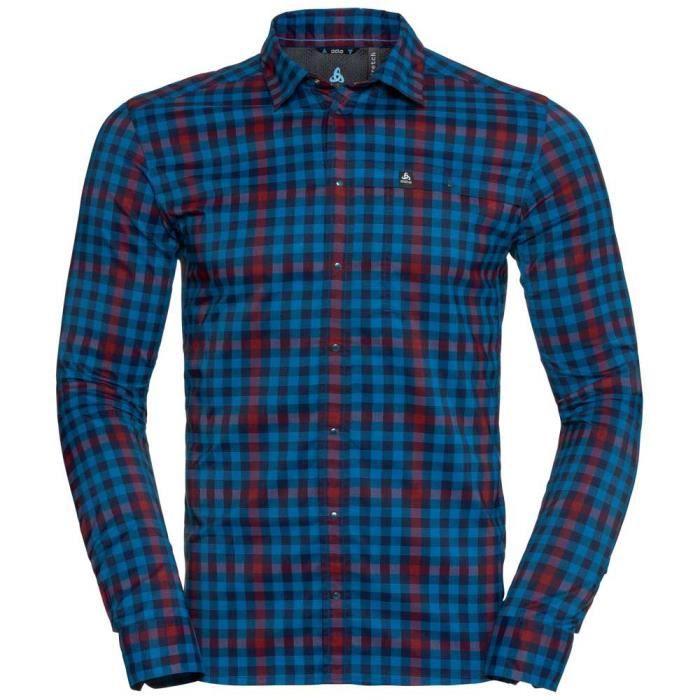 Homme Odlo Achat Bleu Shirt Vêtements Chemises Ls Fairview 1JKF3clT