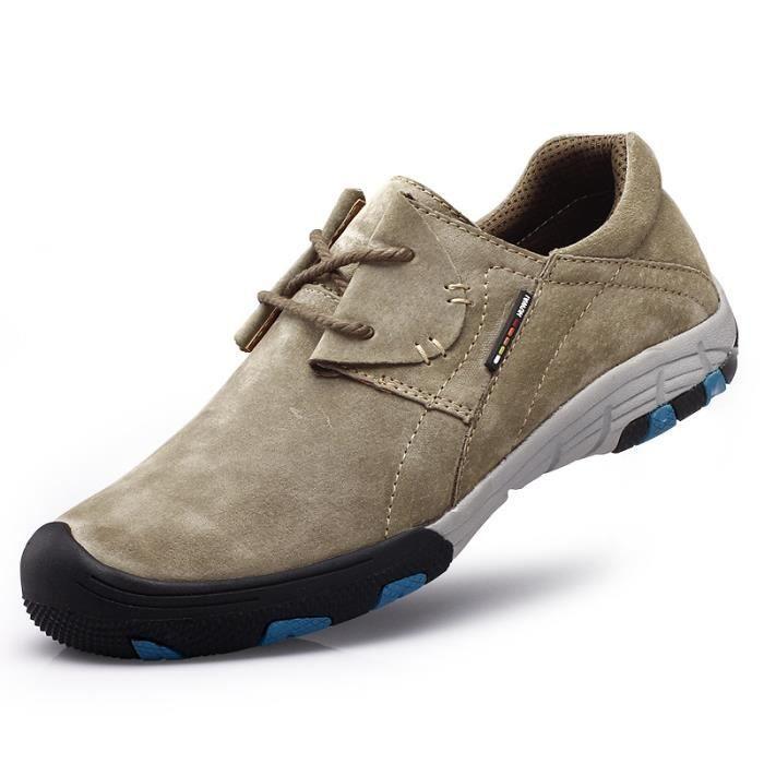 Chaussures de randonnée antidérapantes en daim pour hommes
