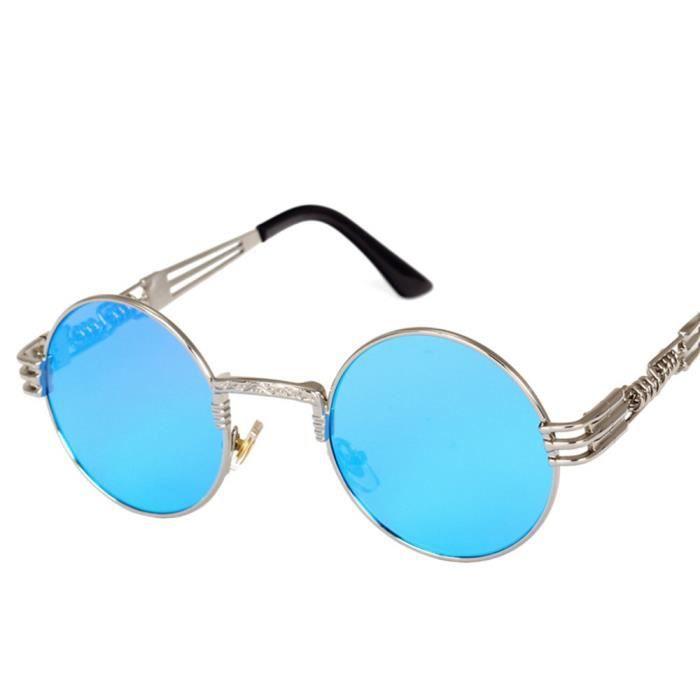 3b5d1aba282102 Deuxsuns®Hommes Femmes Ronde Carré Vintage Miroir Lunettes De Soleil  Lunettes Sports de Plein Air ...