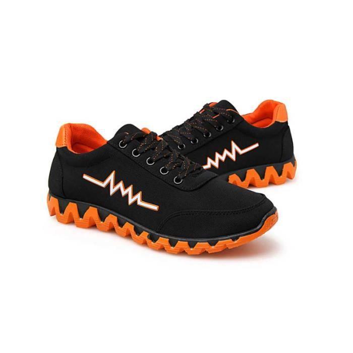 la Chaussures Noir Masculines Basket taille Chaussures de orange vérifiez Respirante Homme course Casual OOS4xp6q