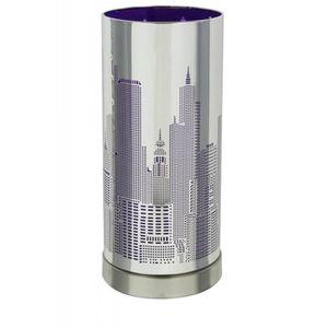LAMPE A POSER Lampe tactile à 3 intensités - Violet - City - Sys