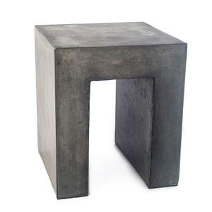 TABOURET Tabouret en béton - mobilier au design épuré - sty
