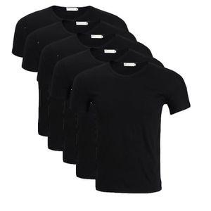 d7f78d76a9b6 T-SHIRT T shirt Homme uni basique Lot de 5 Tee Hommes bagg