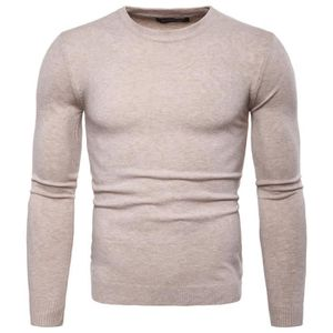 GILET - CARDIGAN Pull Homme Marque Luxe Couleur Unie Pullover Slim