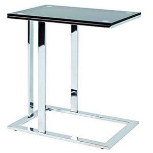 TABLE D'APPOINT Table d'appoint en acier et verre trempé coloris n
