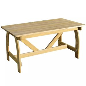 Table de jardin en bois de pin imprégné Brun - Achat / Vente table ...