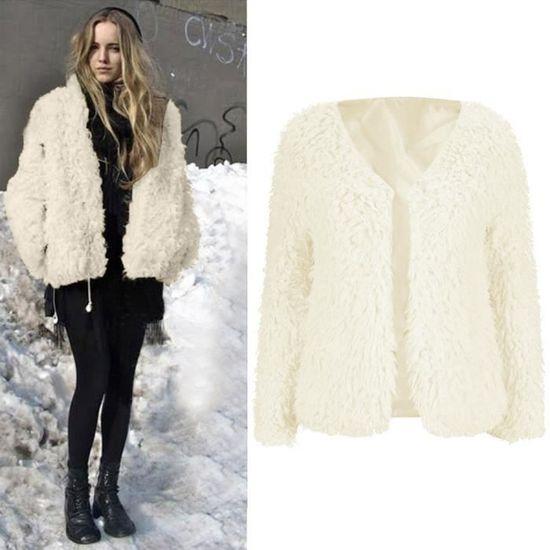 Mode Lady Gilet Veste Qe6740 Chaud Manteau Fluffy Outwear D'hiver Femmes FrqOF