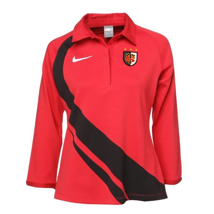 NIKE Polo Toulouse Supporters Jersey Femme - Rouge