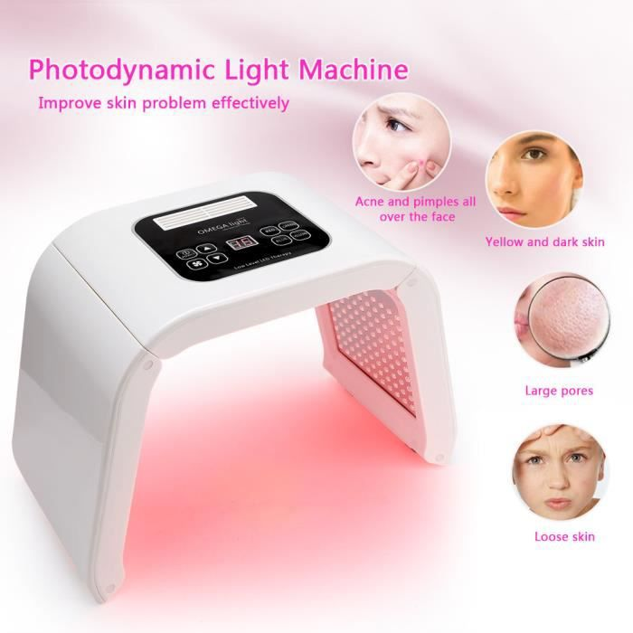 Photodynamique Rajeunissement De 7 La Lumière Pdt Lampe Couleurs Beauté Peau L'acné Traitement Machine Led EHYW29DI