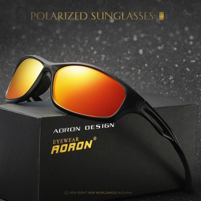Lunettes de soleil polarisées pour Homme sport Lunettes cyclisme Lunettes  de soleil de golf 2c6f6a096281