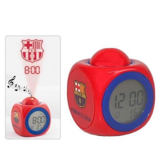 Fc barcelone horloge r veil projecteur logo fcb foot thermom tre bar a messi neymar id e cadeau - Logo barcelone foot ...