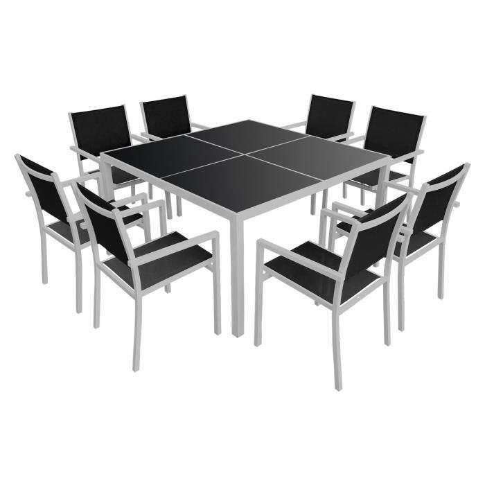 Table salon de jardin carre - Achat / Vente pas cher