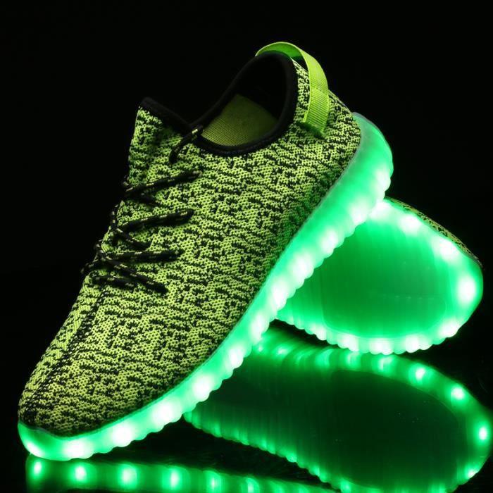 Nouvelle arrivée chaussures de sport chaussures Led Glowing hommes femmes mode lumineux Led Light UP chaussures pour adultes 7xGtSp5