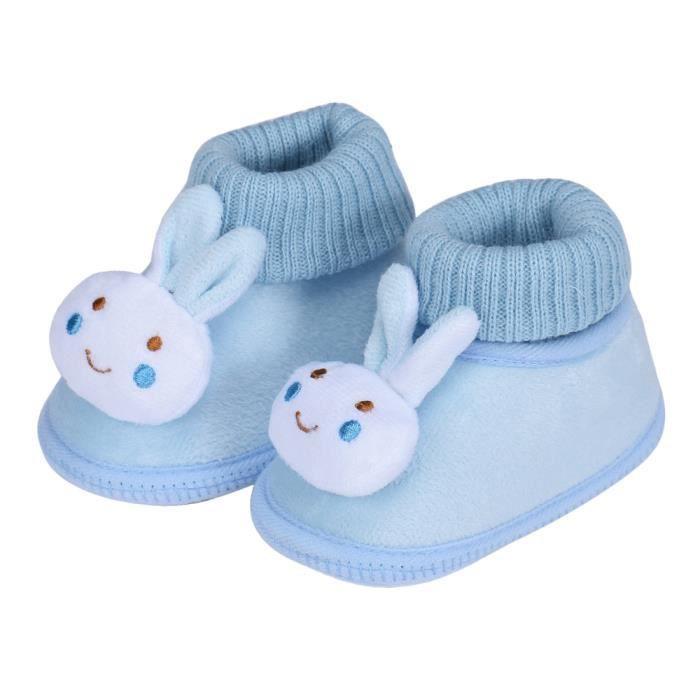 Chaussures de bébébébé Chaussures bottes enfant enfant fille garçon chaussures berceau bottes Soft bleu